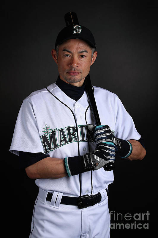 Three Quarter Length Art Print featuring the photograph Ichiro Suzuki by Christian Petersen