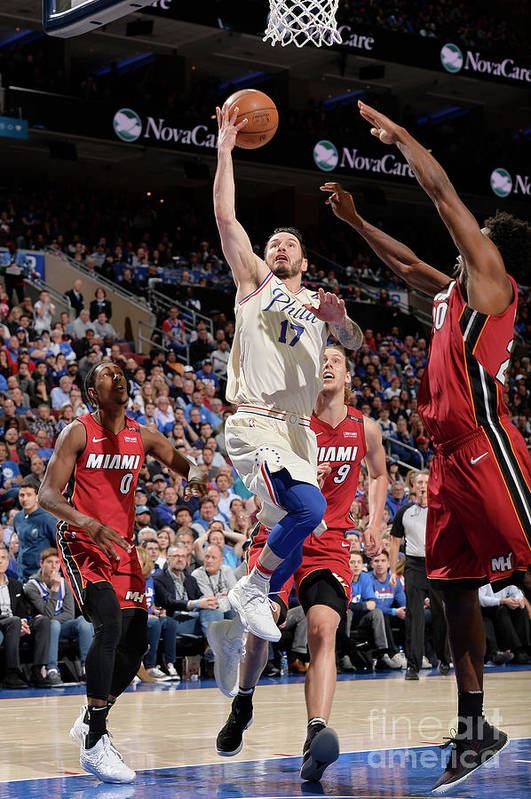Playoffs Art Print featuring the photograph J.j. Redick by David Dow