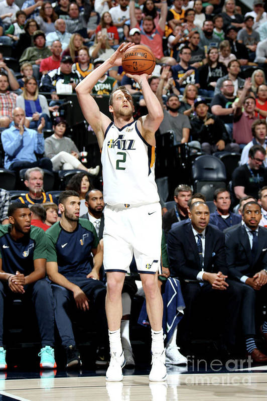 Nba Pro Basketball Art Print featuring the photograph Joe Ingles by Melissa Majchrzak