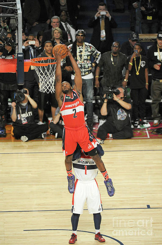 Smoothie King Center Art Print featuring the photograph John Wall by Bill Baptist
