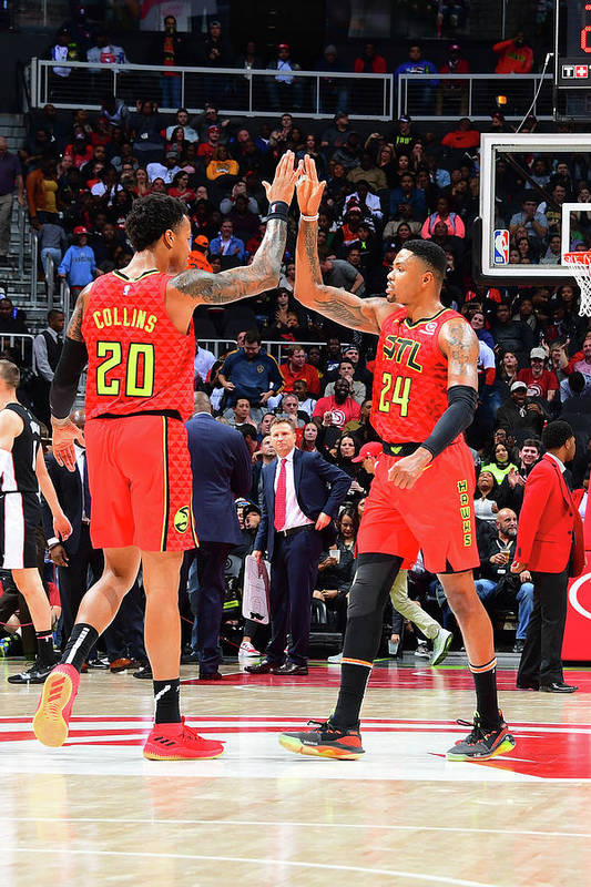 Atlanta Art Print featuring the photograph Kent Bazemore and John Collins by Scott Cunningham
