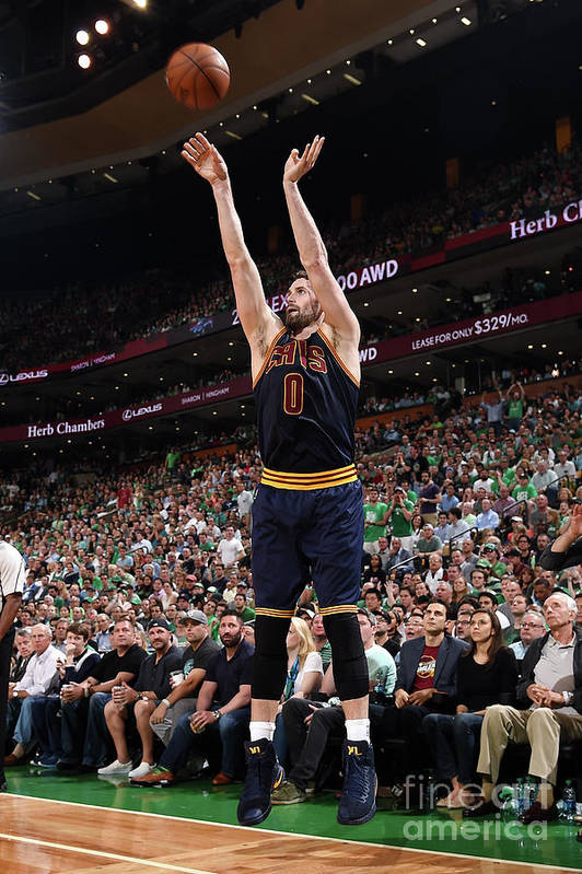 Playoffs Art Print featuring the photograph Kevin Love by Brian Babineau