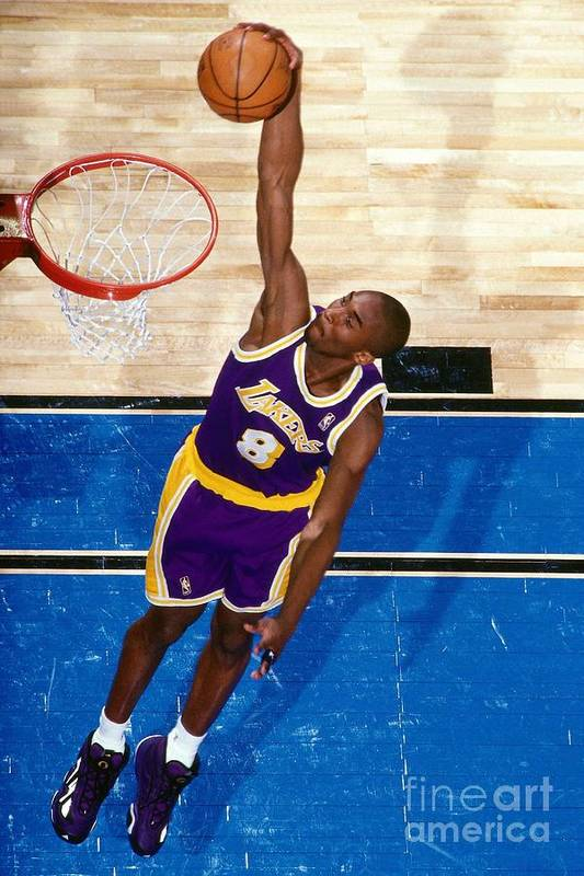 Nba Pro Basketball Art Print featuring the photograph Kobe Bryant by Nathaniel S. Butler