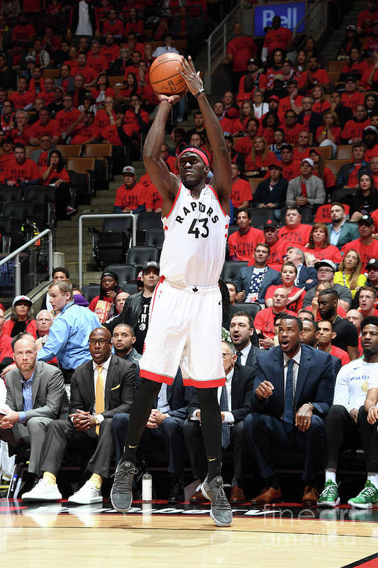 Playoffs Art Print featuring the photograph Pascal Siakam by Andrew D. Bernstein