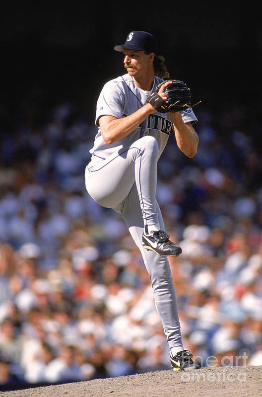 American League Baseball Art Print featuring the photograph Randy Johnson by Rich Pilling