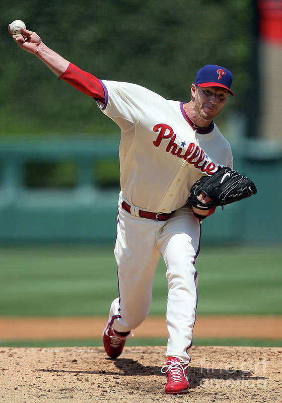 People Art Print featuring the photograph Roy Halladay by Jim Mcisaac