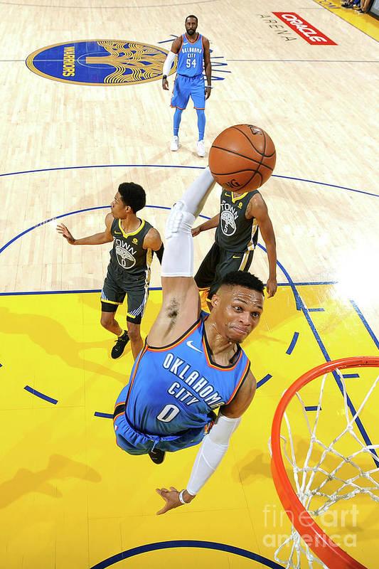 Nba Pro Basketball Art Print featuring the photograph Russell Westbrook by Noah Graham