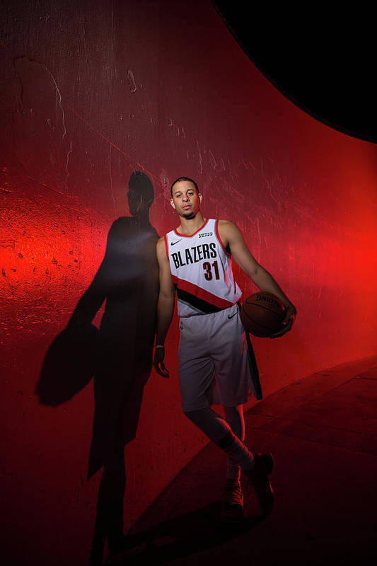 Media Day Art Print featuring the photograph Seth Curry by Sam Forencich