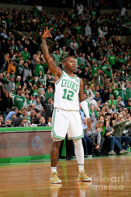 Playoffs Art Print featuring the photograph Terry Rozier by Brian Babineau