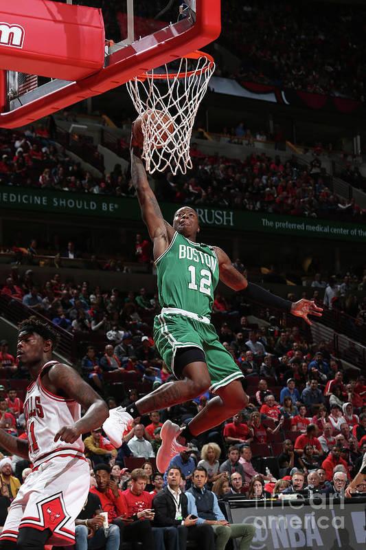 Playoffs Art Print featuring the photograph Terry Rozier by Gary Dineen
