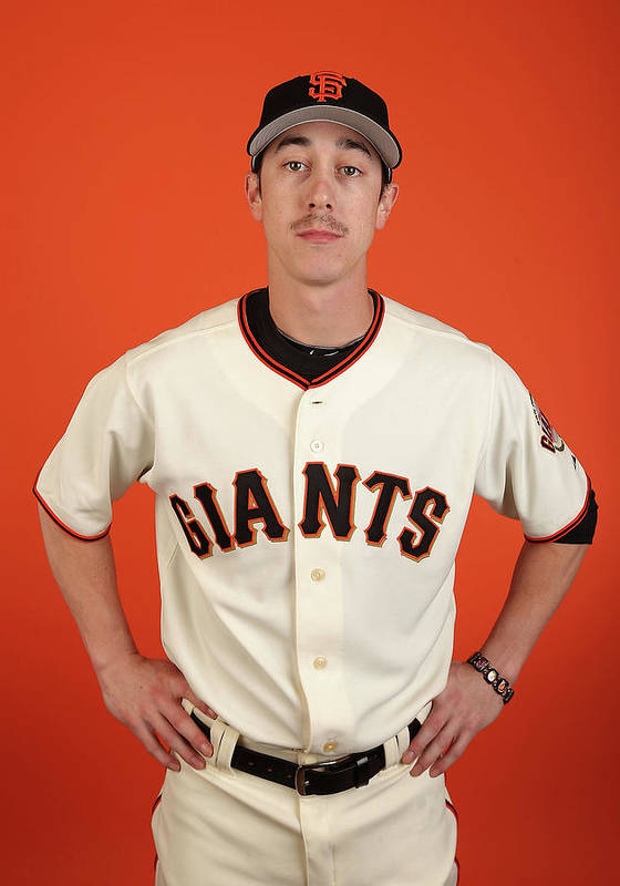 Media Day Art Print featuring the photograph Tim Lincecum by Christian Petersen