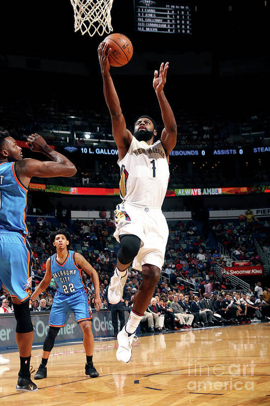 Smoothie King Center Art Print featuring the photograph Tyreke Evans by Layne Murdoch