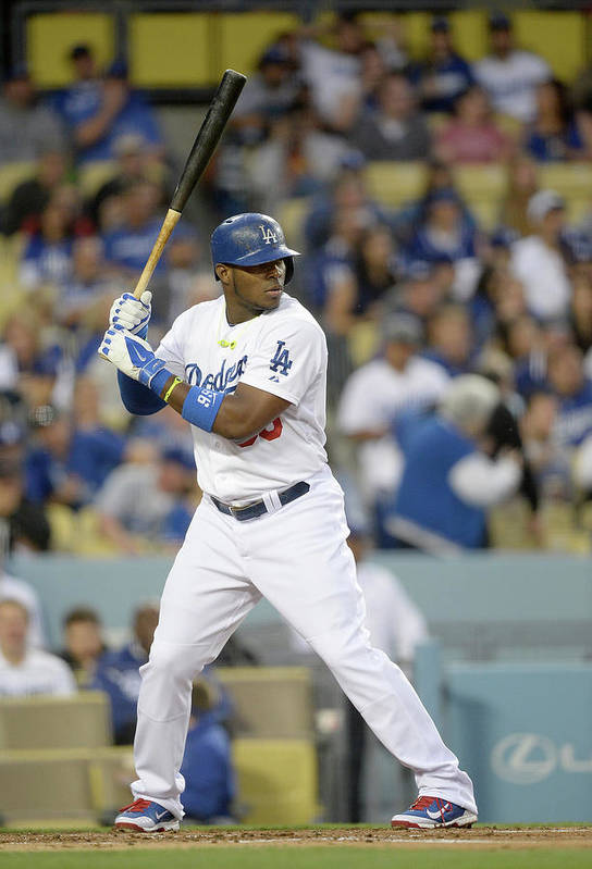 California Art Print featuring the photograph Yasiel Puig by Harry How