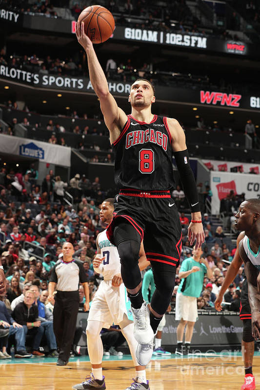 Chicago Bulls Art Print featuring the photograph Zach Lavine by Kent Smith
