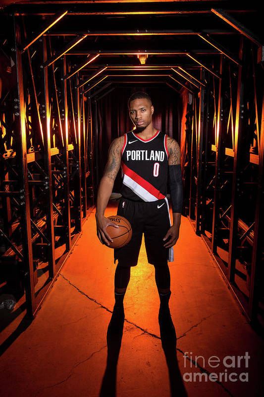 Media Day Art Print featuring the photograph Damian Lillard by Sam Forencich