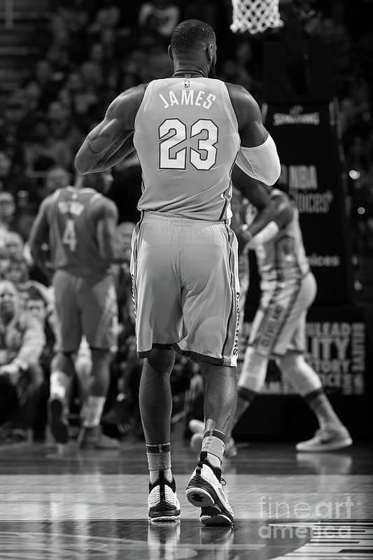 Nba Pro Basketball Art Print featuring the photograph Lebron James by Joe Murphy