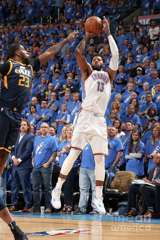 Playoffs Art Print featuring the photograph Paul George by Layne Murdoch