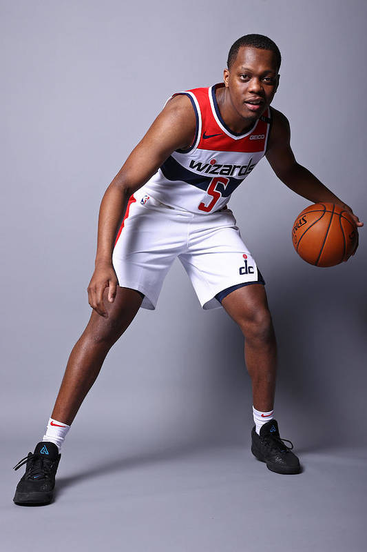 Media Day Art Print featuring the photograph 2020-21 Washington Wizards Content Day by Ned Dishman