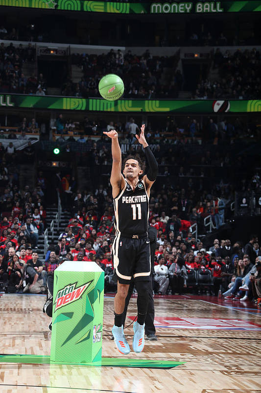 Nba Pro Basketball Art Print featuring the photograph 2020 NBA All-Star - MTN DEW 3-Point Contest by Nathaniel S. Butler