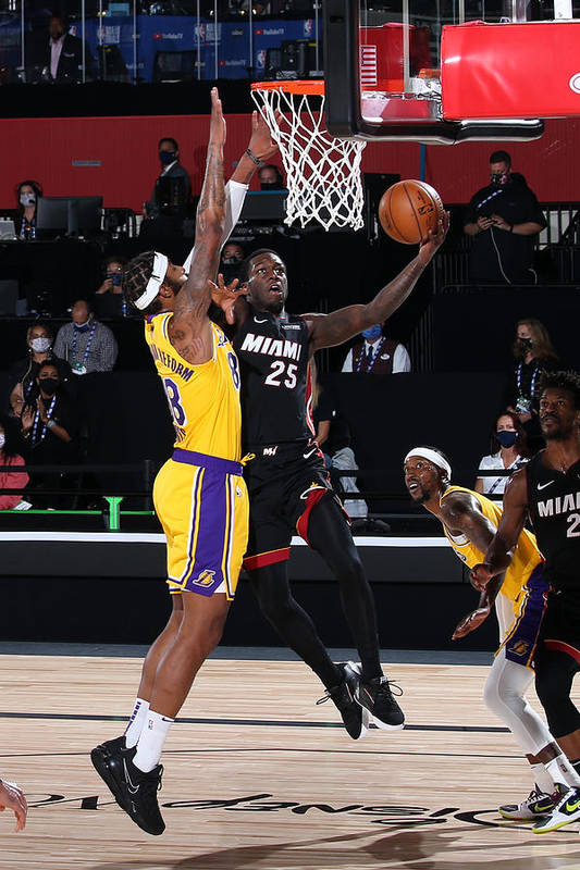 Playoffs Art Print featuring the photograph 2020 NBA Finals - Los Angeles Lakers v Miami Heat by Nathaniel S. Butler