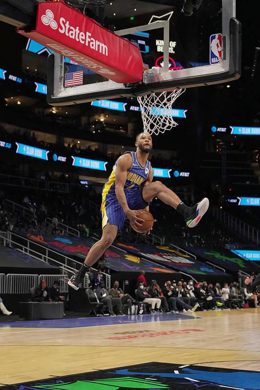 Atlanta Art Print featuring the photograph 2021 NBA All-Star - AT&T Slam Dunk Contest by Jesse D. Garrabrant