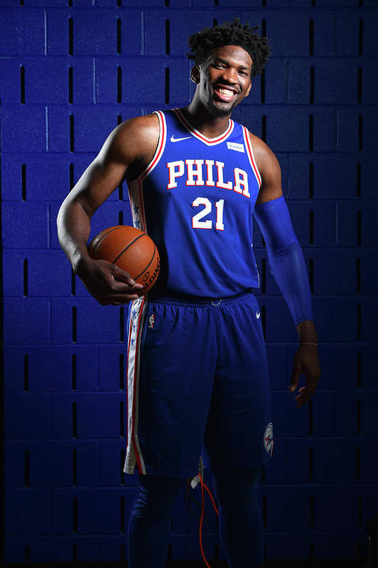Media Day Art Print featuring the photograph Joel Embiid by Jesse D. Garrabrant