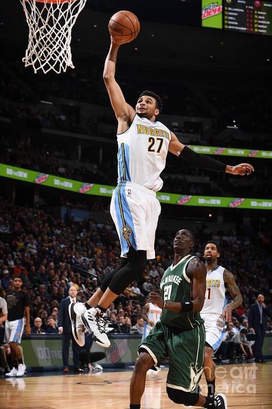 Nba Pro Basketball Art Print featuring the photograph Jamal Murray by Garrett Ellwood