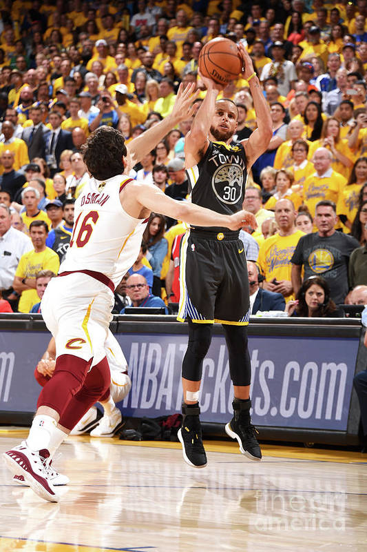 Playoffs Art Print featuring the photograph Stephen Curry by Andrew D. Bernstein