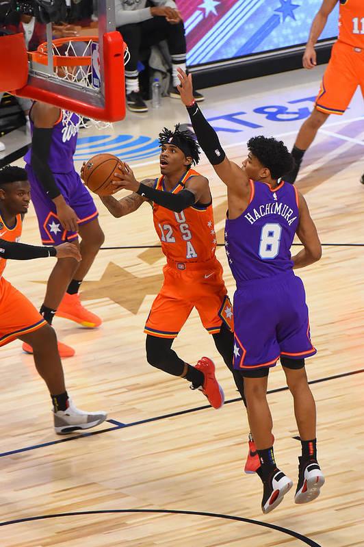 Nba Pro Basketball Art Print featuring the photograph 2020 NBA All-Star - Rising Stars Game by Bill Baptist