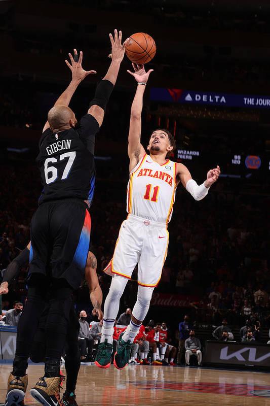 Playoffs Art Print featuring the photograph 2021 NBA Playoffs - Atlanta Hawks v New York Knicks by Nathaniel S. Butler