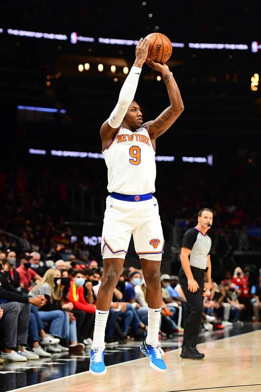 Atlanta Art Print featuring the photograph 2021 NBA Playoffs - New York Knicks v Atlanta Hawks by Scott Cunningham