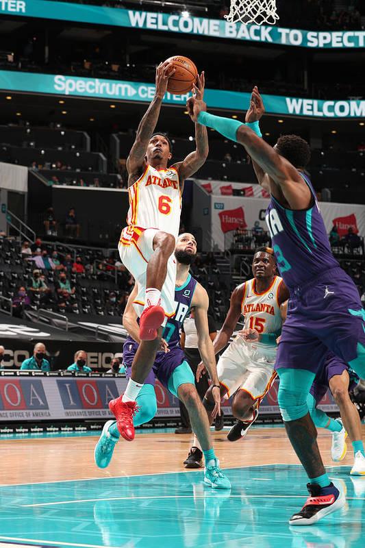 Nba Pro Basketball Art Print featuring the photograph Atlanta Hawks v Charlotte Hornets by Kent Smith
