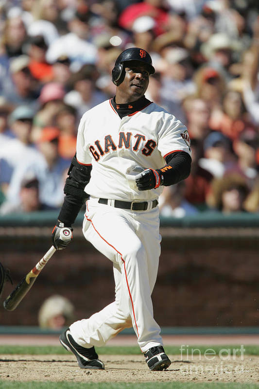San Francisco Art Print featuring the photograph Barry Bonds by Brad Mangin
