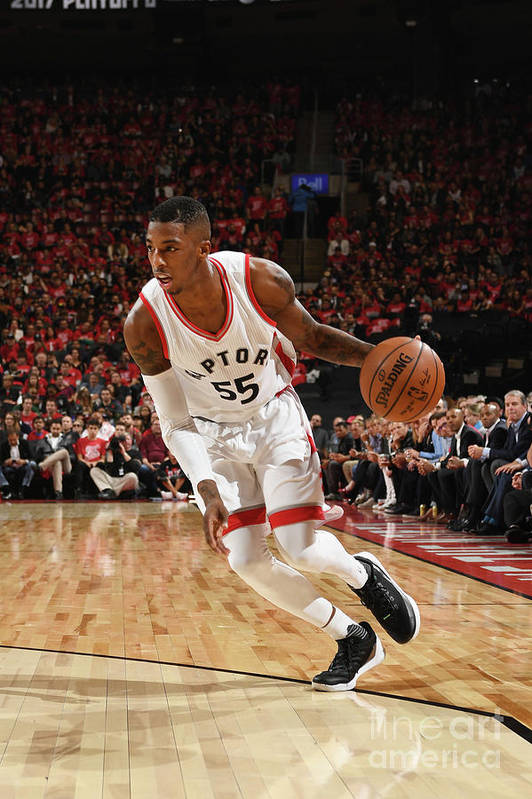 Playoffs Art Print featuring the photograph Delon Wright by Ron Turenne