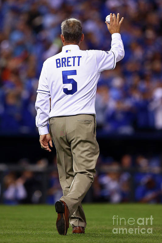 Game Two Art Print featuring the photograph George Brett by Elsa