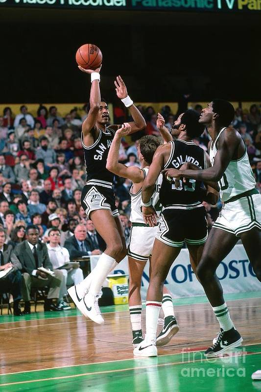 1980-1989 Art Print featuring the photograph George Gervin by Dick Raphael