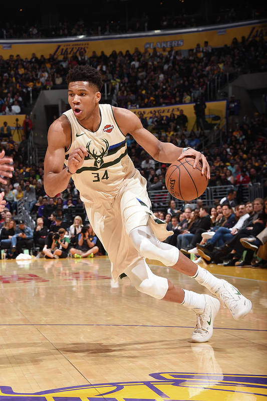 Nba Pro Basketball Art Print featuring the photograph Giannis Antetokounmpo by Andrew D. Bernstein