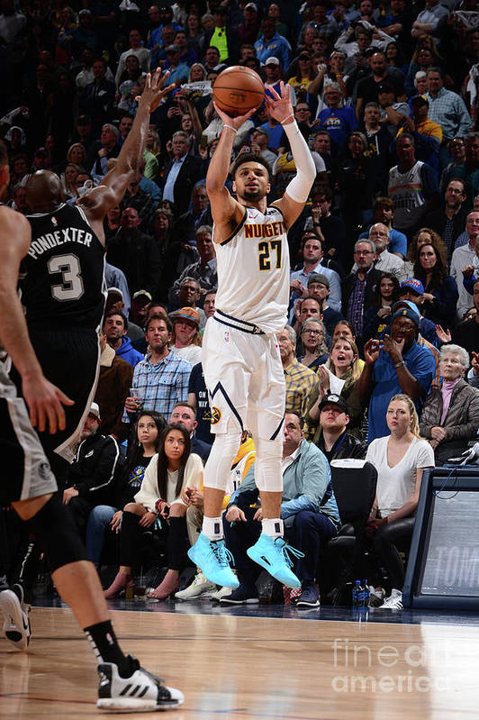 Playoffs Art Print featuring the photograph Jamal Murray by Bart Young