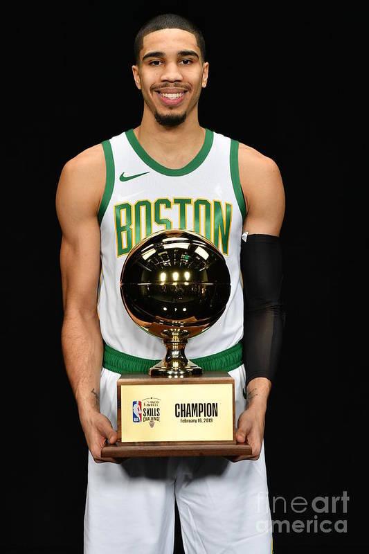 Nba Pro Basketball Art Print featuring the photograph Jayson Tatum by Jesse D. Garrabrant
