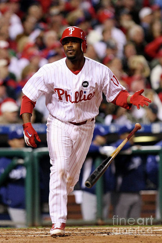 Playoffs Art Print featuring the photograph Jimmy Rollins by Nick Laham