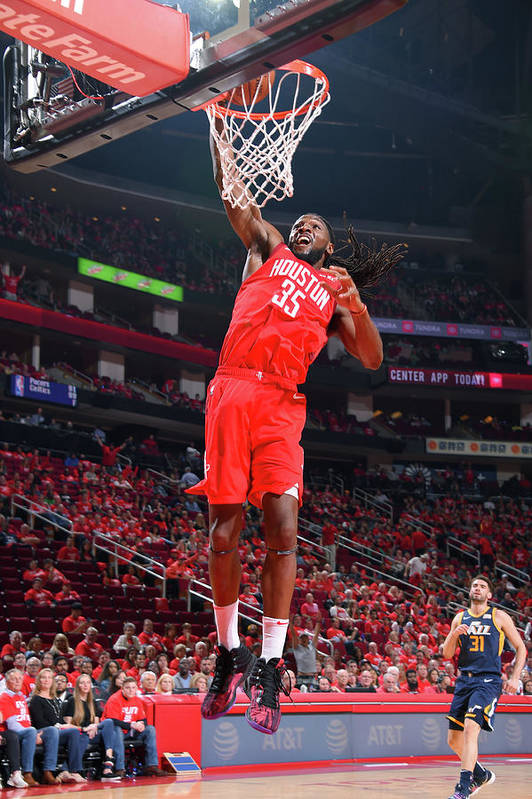 Playoffs Art Print featuring the photograph Kenneth Faried by Bill Baptist
