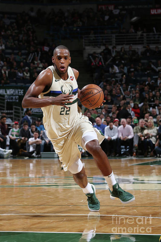 Nba Pro Basketball Art Print featuring the photograph Khris Middleton by Gary Dineen