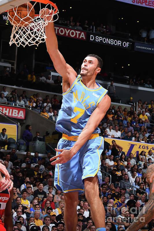 Nba Pro Basketball Art Print featuring the photograph Larry Nance by Andrew D. Bernstein