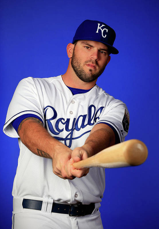 Media Day Art Print featuring the photograph Mike Moustakas by Jamie Squire