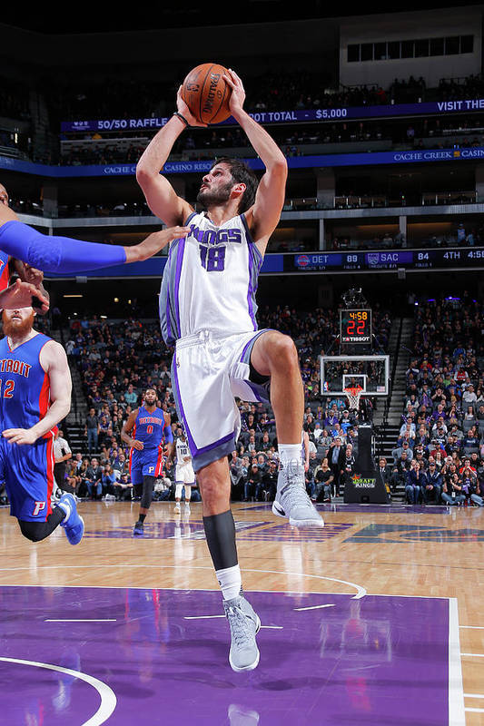Nba Pro Basketball Art Print featuring the photograph Omri Casspi by Rocky Widner