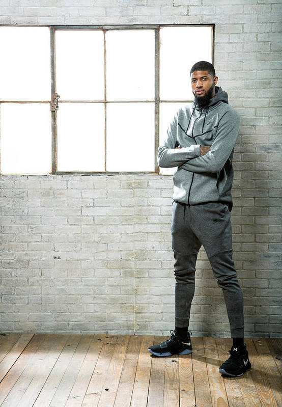 Nba Pro Basketball Art Print featuring the photograph Paul George by Nathaniel S. Butler