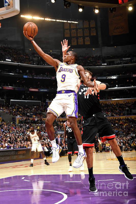 Nba Pro Basketball Art Print featuring the photograph Rajon Rondo by Andrew D. Bernstein