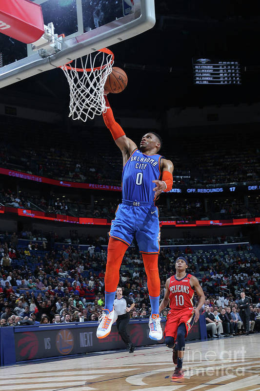Smoothie King Center Art Print featuring the photograph Russell Westbrook by Layne Murdoch Jr.