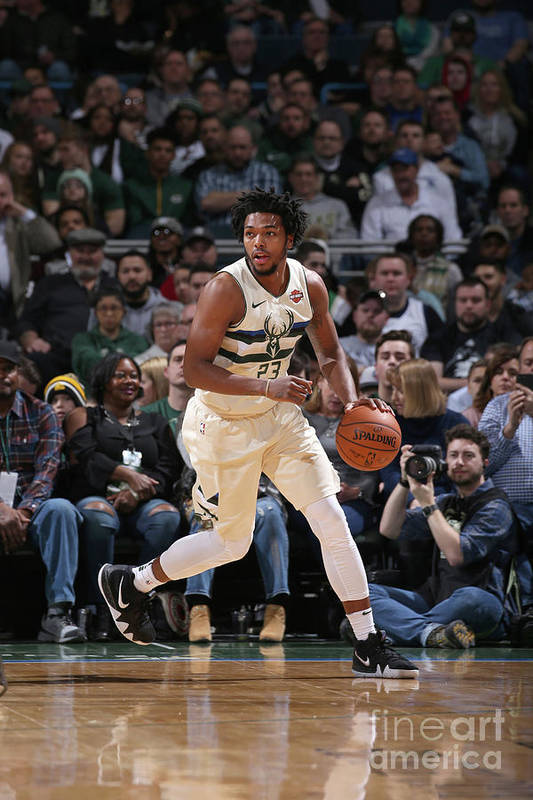 Nba Pro Basketball Art Print featuring the photograph Sterling Brown by Gary Dineen