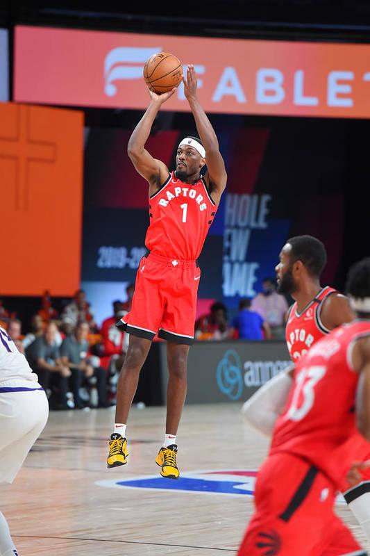 Nba Pro Basketball Art Print featuring the photograph Toronto Raptors v Phoenix Suns by Bill Baptist